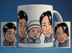 似顔絵マグカップ 家族で