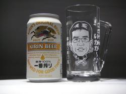 似顔絵グラス(焼酎お湯割り用)