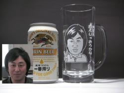 似顔絵ビールジョッキ