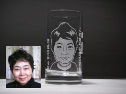 似顔絵グラス(還暦お祝い)