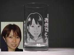 似顔絵グラス(誕生日プレゼント)