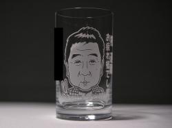 似顔絵タンブラーグラス(退職お祝い)