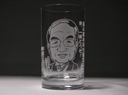 似顔絵タンブラーグラス(退職記念)